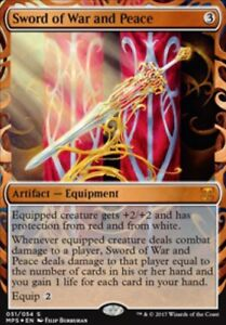 Epee-de-guerre-et-paix-PREMIUM-FOIL-Sword-of-War-and-Peace-Invention-mtg