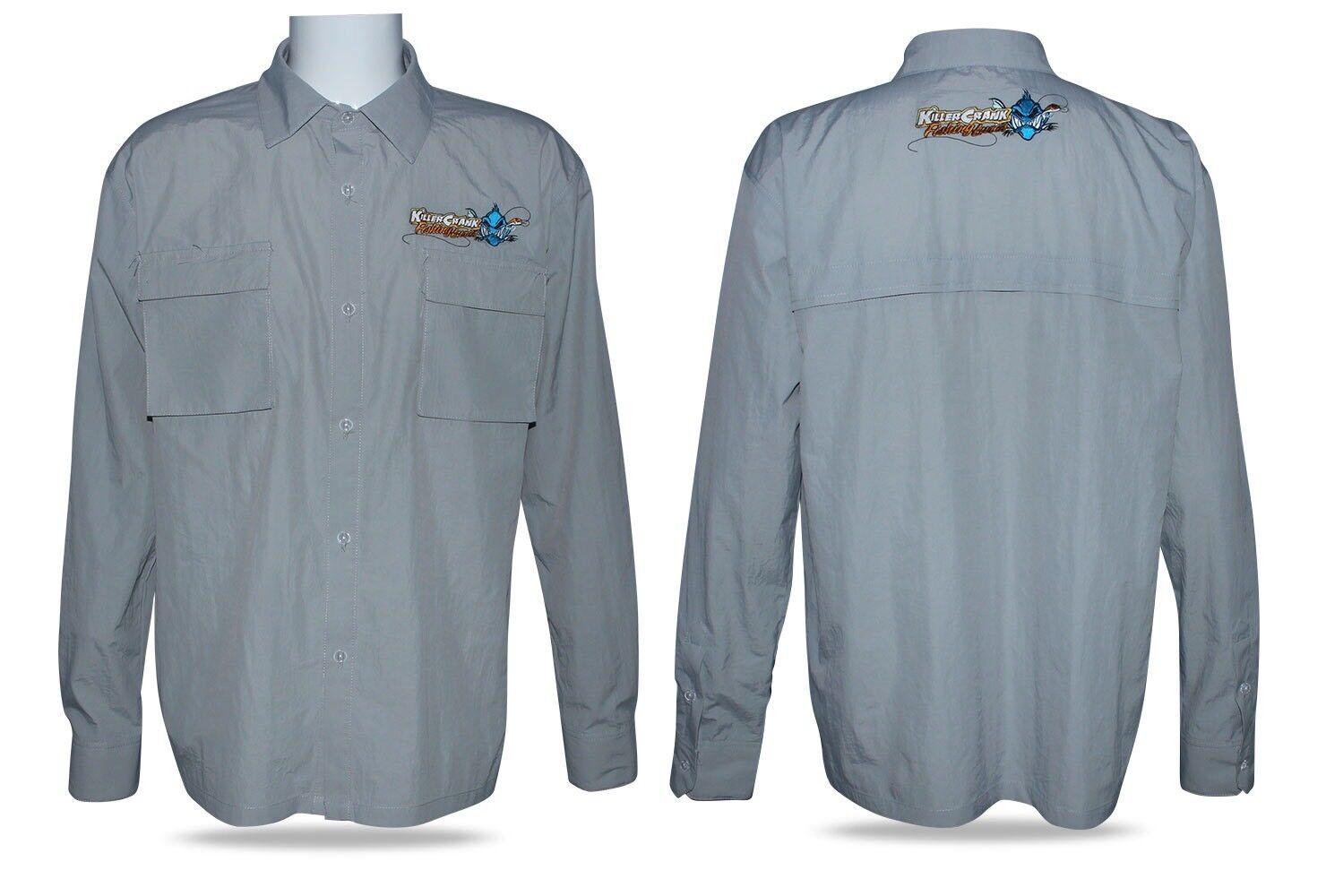 nuovo Nylon Killer Crank Vented Breathable Fishing Shirt. tutti Men's Dimensiones