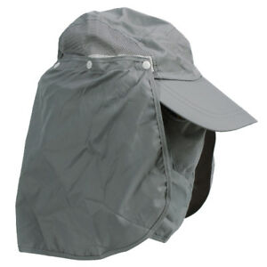 360-degree Outdoor Hat Shawl Neck Sun Protection Hat w  Face - Gray ... 0428c797d61