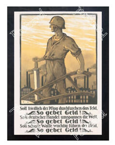 Historic-WWI-German-Recrutiment-Poster-the-plough-is-to-till-the-field-Postcard