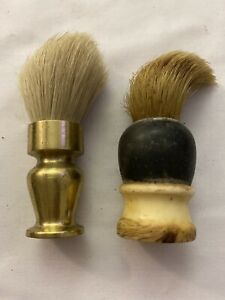 Old-Vintage-Men-039-s-Bristle-Shaving-Brushes-2-Brass-amp-Wood