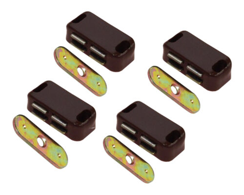 4x Strong Magnetic Brown Door Catch Cabinet Cupboard 4kg Pull