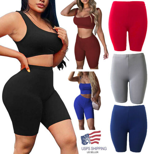 Women Scrunch Cycling Shorts Gym Push Up Stretch Yoga  Workout Fitness Hot Pants