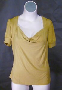 NEW-Torrid-Pea-Green-Drape-Neck-Short-Sleeve-STRETCH-Top-Blouse-Sizes-10-28-0-4
