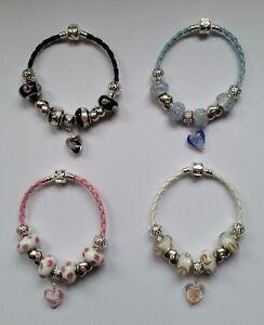 bracelet-Charms-Europeen-beads-perles-Murano-cuir