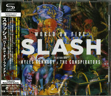 SLASH-WORLD ON FIRE-JAPAN SHM-CD F17
