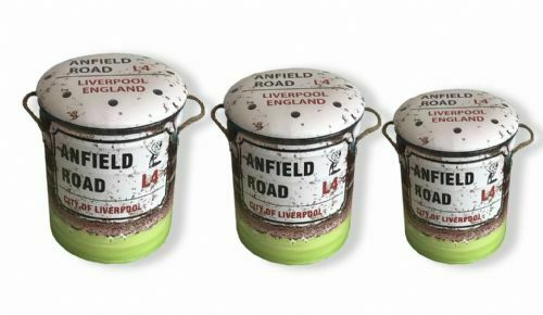 Football Grounds Retro Oil Drum Storage Seat, 4 Fab designs, 3 brilliant sizes.