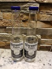 CORONA SALT AND PEPPER SHAKERS (1 pair of 7oz Coronita extra bottles and caps)