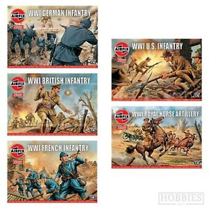Airfix-WW1-Figures-1-76-Vintage-Classics-Model-48-Army-British-German-Infantry