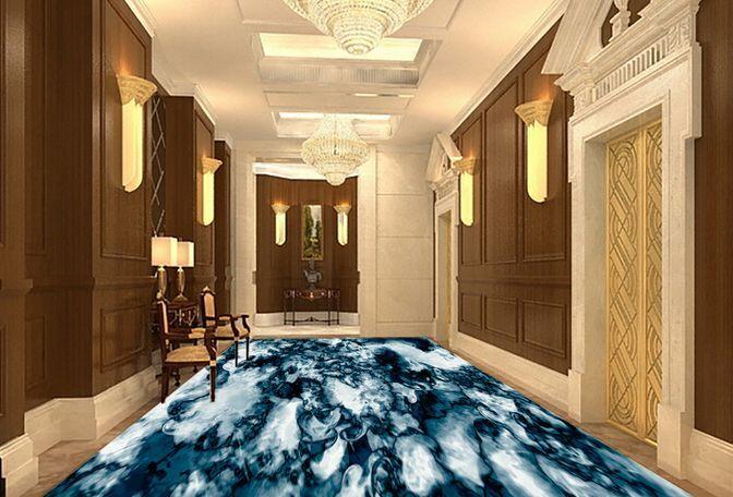 3D Veined Marble Art Floor WallPaper Murals Wall Print Decal 5D AJ WALLPAPER