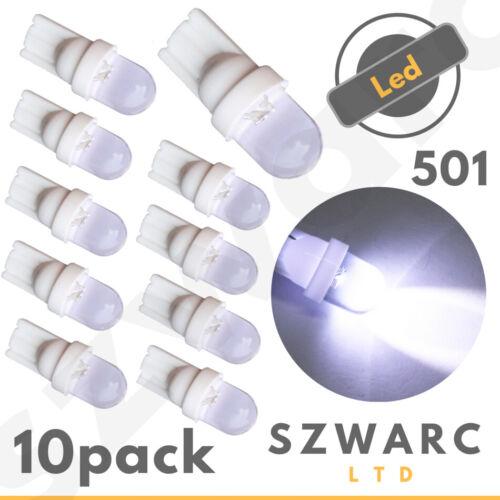 10 X T10 501 W5W Voiture Côté Ampoules De Plaque D/'immatriculation Intérieur Wedge DEL XENON HID