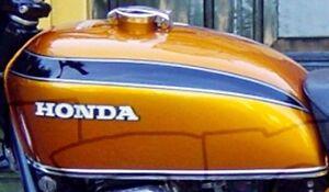 Cutgrafix Honda Cb750 4 Four K2 Tank Stripe Set For Orange Gold
