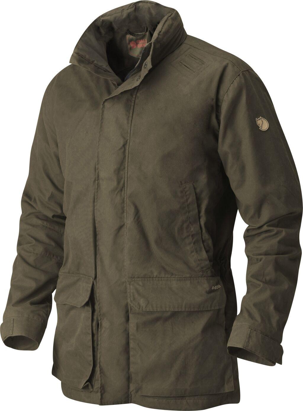 Fjällräven Björn Jacket 90311 Dark verde oliva g-1000 hydratic Forest caza chaqueta