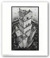 ART POSTER Tower of Babel M.C. Escher