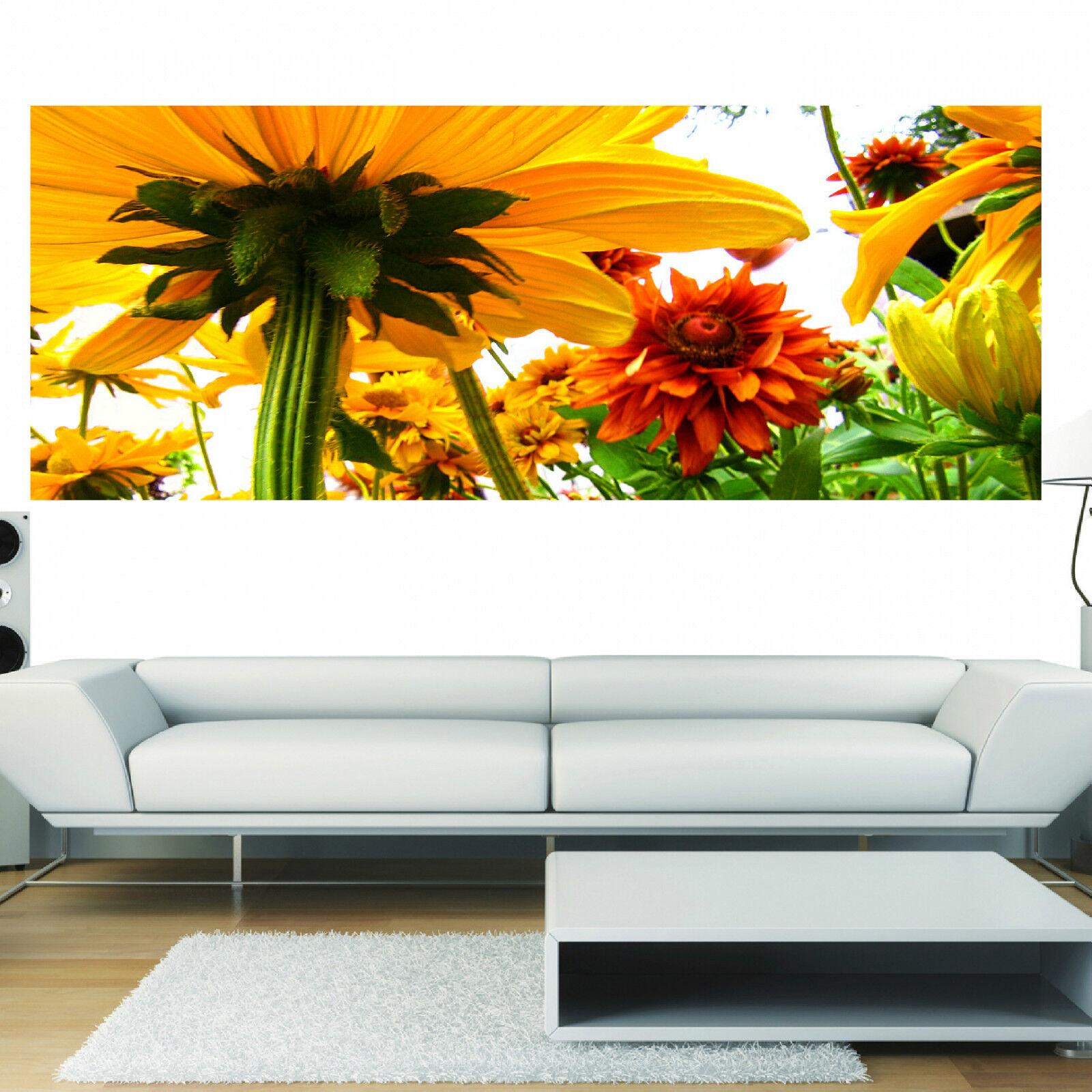 Aufkleber Panorama Deko Sonnenbluemen Ref 3643 (13 Größe)
