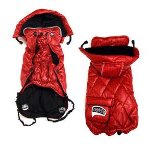 Veste pour chien veste d'hiver, veste de transfert Cascabel en rouge