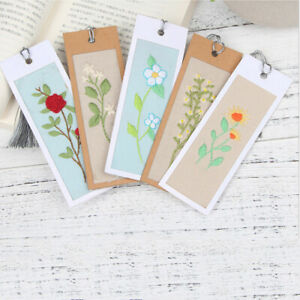5pcs-Floral-Bookmarks-Counted-Cross-Stitch-Kit-Embroidery-Set-DIY-Needlework