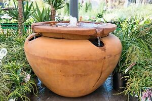 Image Is Loading GRC Outdoor Garden Patio Water Feature Escher Jar