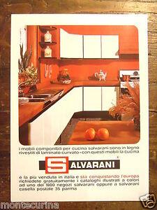 Cucine Componibili Salvarani.Dettagli Su Salvarani Mobili Cucine Arredamento Pubblicita Anni 60 Advertising D106