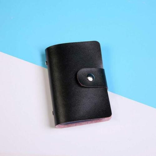 Luxury Solid Men Women Card Holder Wallet PU Leather Visiting Case Business Gift
