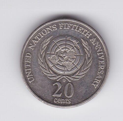 1995 AUSTRALIA 20 Cent Coin Commemorative United Nations