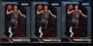 LOT-OF-3-TRAE-YOUNG-2018-19-PANINI-PRIZM-78-ROOKIE-HAWKS-BASE-RC-FC5344