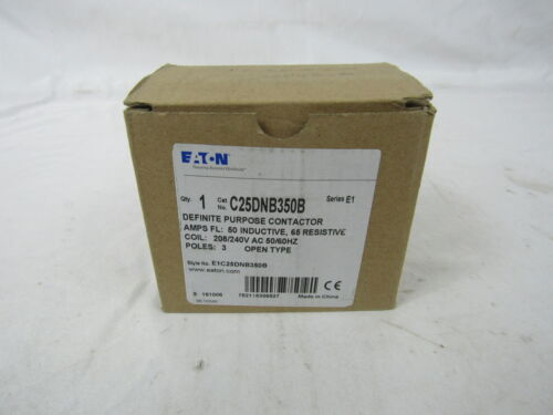 Eaton C25DNB350B Definite Purpose Contactor Open 3P 50A 208//240VAC 50//60Hz
