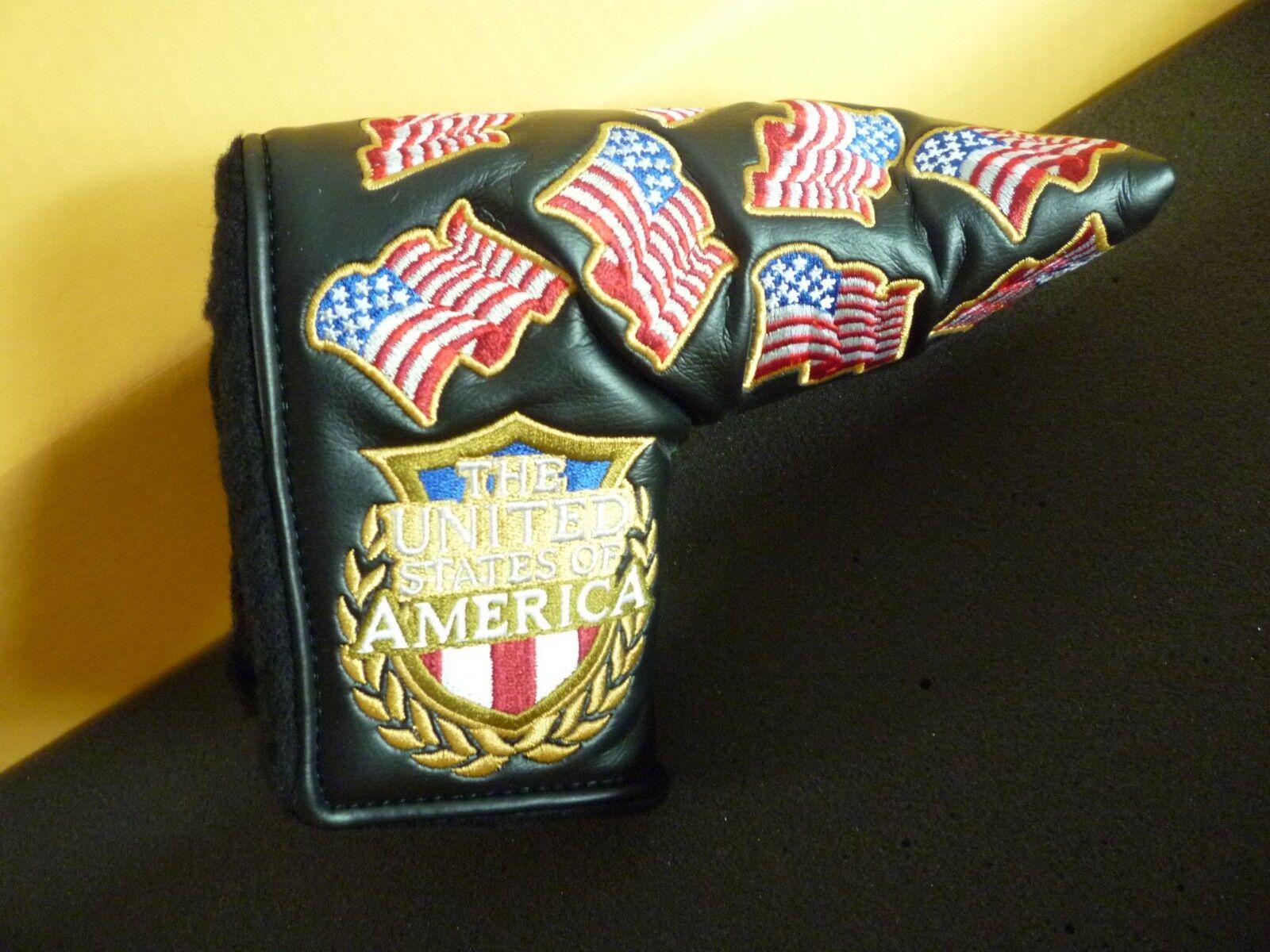 Scotty Cameron Titleist EE. UU. Flag Putter Cubierta Nuevo Us Open Dustin Johnson Oakmont