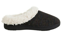Isotoner Signature Woodlands French Terry Slippers Black Md 7.5-8
