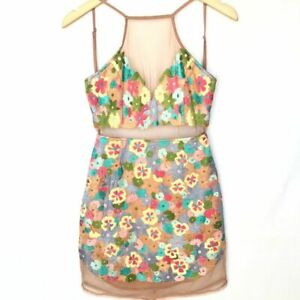 Nwt Revolve Nbd Sz S Embroidered Floral Mini Dress Muticolor Open Back Ebay This summer is all about prints and what say summer better than flowers. ebay