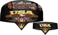 Usa American Eagle Chop Top Biker Bandanna Head Wrap Sweatband Cotton Headband