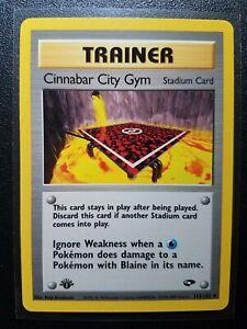 Pokemon Gym Challenge Uncommon Card #113//132 Cinnabar City Gym