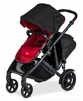 Britax 2017 B-ready Double Stroller In Poppy Brand With Second Seat
