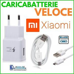 CARICABATTERIE-VELOCE-FAST-per-XIAOMI-REDMI-NOTE-5-PRO-PRESA-CAVO-MICRO-USB