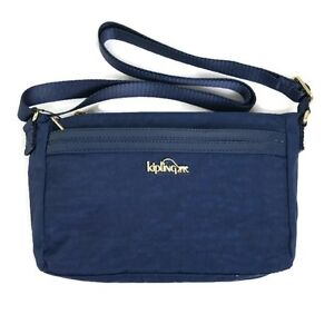 Image Is Loading Kipling Jude Crossbody Bag Midnight Blue Patent Combo
