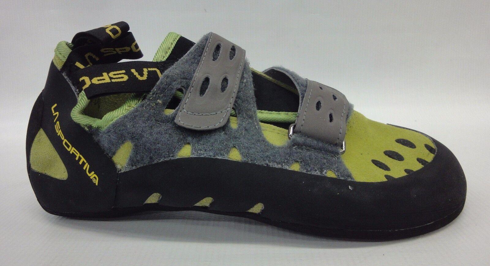La Sportiva Mens Tarantula Climbing shoes 10C Kiwi Grey Size 46