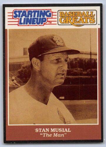 "1989 Stan Musial-Starting Lineup de Cartão St Louis Cardinals /""Baseball Grandes/"""