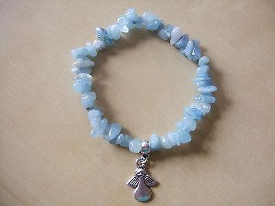 Healing ANGEL, AQUAMARINE  Gemstone Bracelet