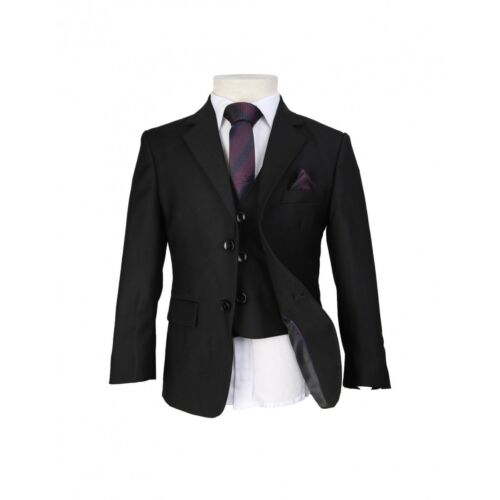 Boys 6 Piece Black Slim Fit Suit Wedding Prom Page boy Suits Age 1 to 15 Years