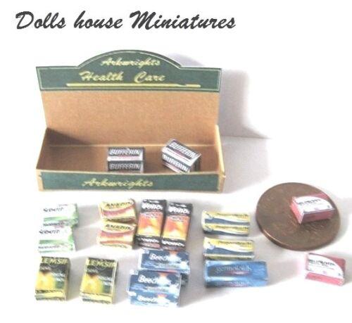 Mostrador de Tienda muestra Dollshouse miniaturas cuidado de la salud
