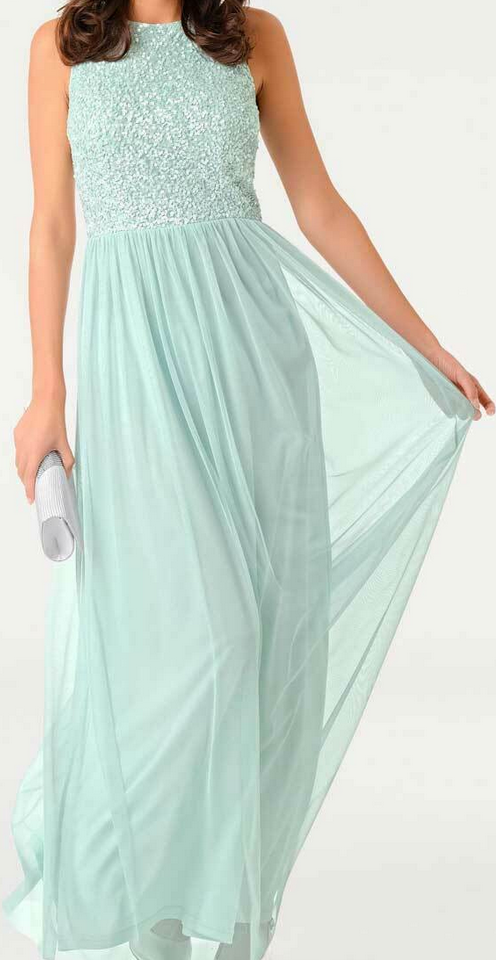 Ashley Brooke Abendkleid mit Pailletten Gr. 40 mint