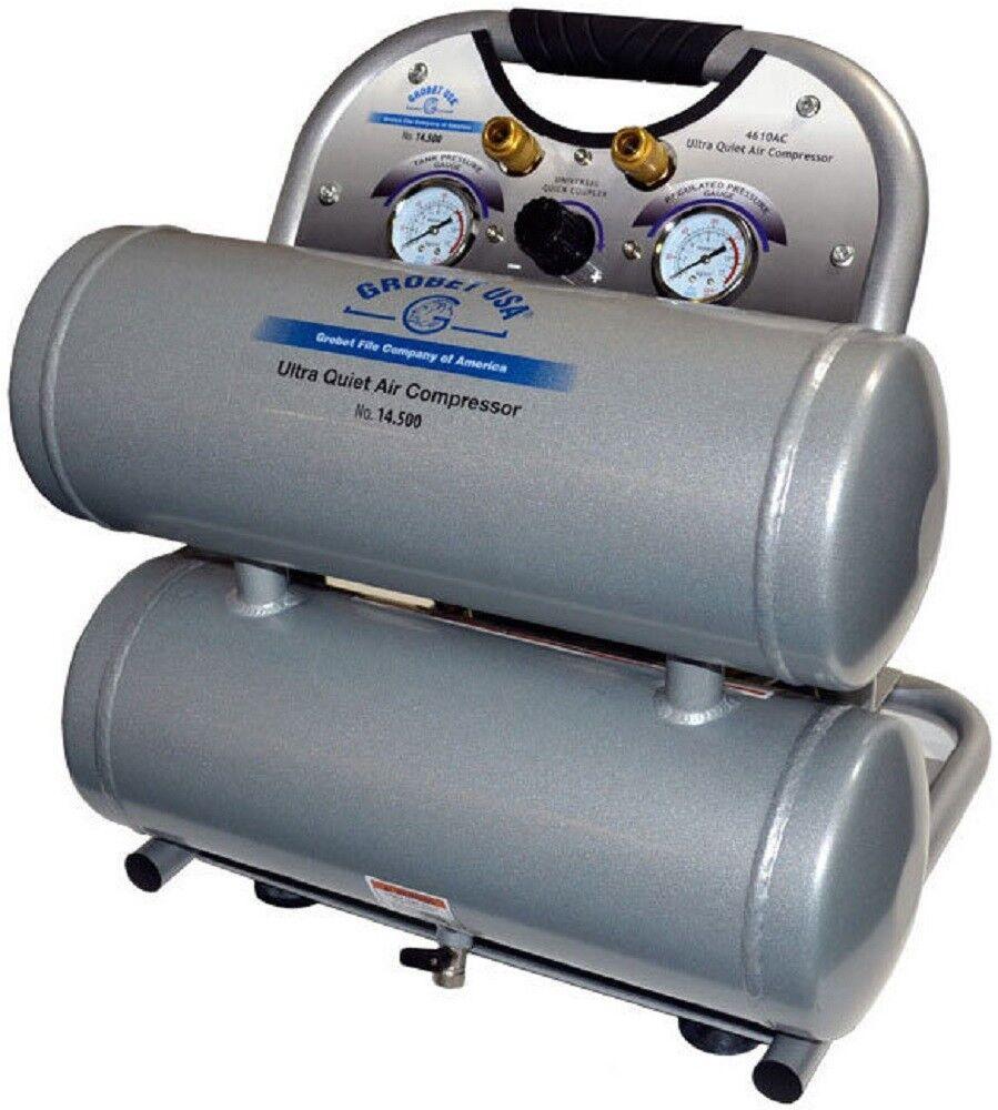 NEW Grobet 14.500 Ultra Quiet Oil Free Lightweight Air Compressor