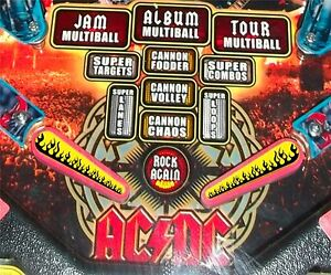 Flames - Pinball Machine Flipper Bat Topper MOD for Stern's AC DC & KISS Pinball