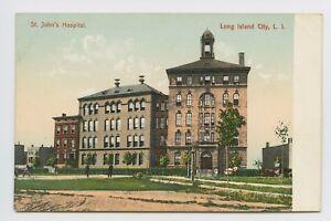 Long-Island-NY-PRE-1908-UDB-of-ST-JOHNS-HOSPITAL-LINY-Postcard-T