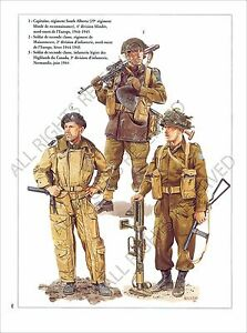 PLANCHE-UNIFORMS-PRINT-WWII-Forces-armee-canadienne-Canadian-Armed-Forces-Canada