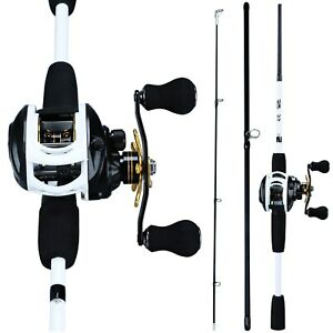 Fishing Rod Combo 1.75m 3 Section Carbon Casting 12 1BB Bait Casting Reel Tackle