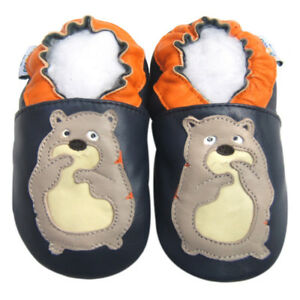 Free Shipping Littleoneshoes Soft Sole Leather Baby Shoes Kids GeckoGreen 12-18M