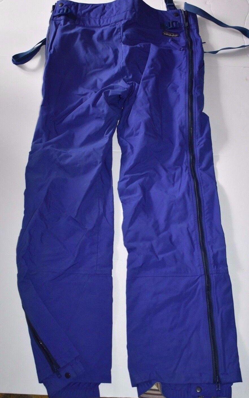 Patagonia Mens 32 Bib Snow Pants Winter Full Zip Royal bluee M