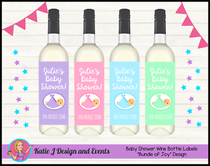 Personalised Baby Shower Wine Bottle Labels Decorations Gifts