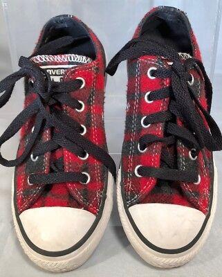Converse Red Black Plaid Flannel Unisex